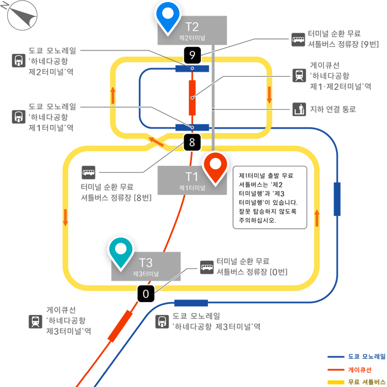 Haneda Airport Terminal Map